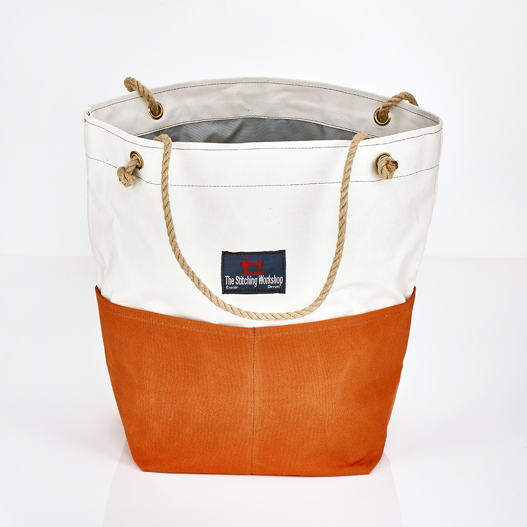 Stitching Workshop - Jessie Beach Bag - Orange