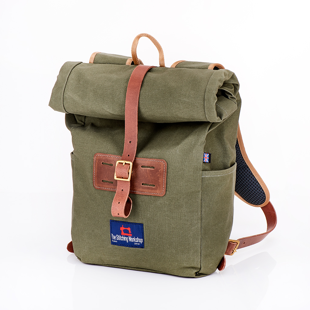 Stitching Workshop - The Mallory Rucksack - Khaki